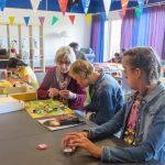 Herfststuk maken en samen djembe spelen tijdens het septemberweekend bij ELF