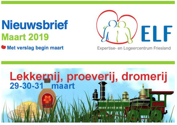 Programma eind maart met proeverij en dromerij, even voorstellen en verslag begin maart 2019 bij ELF