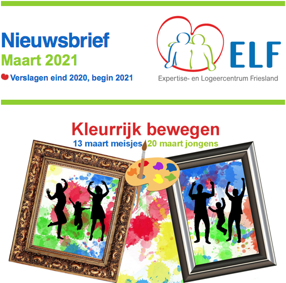 Nieuwsbrief ELF maart 2021 met heel veel nieuws en inhaalberichtjes